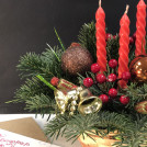 Композиция в корзинке Новогоднее желание