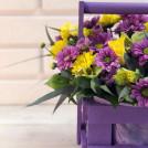 Композиция в ящике Цветочный восторг