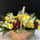 Корзинка с цветами Солнечные блики