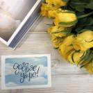 Мини открытка акварельная Доброе утро