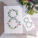 Мини открытка акварельная цветочная 8 марта