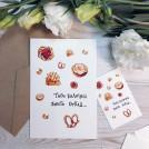 Мини открытка акварельная Твои булочки - просто отпад
