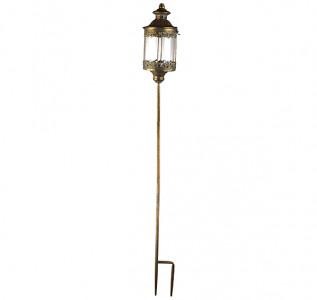 Подсвечник фонарь уличный золотой