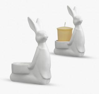 Подсвечник Любопытный кролик
