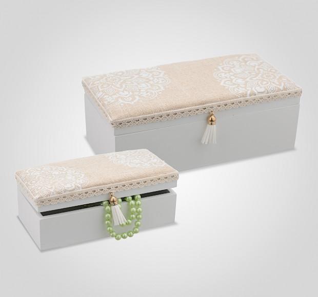Набор деревянных шкатулок Beige Sweetness (2 шт)