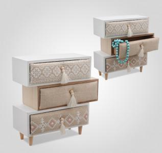 Шкатулка-комод деревянная Dresser Curve