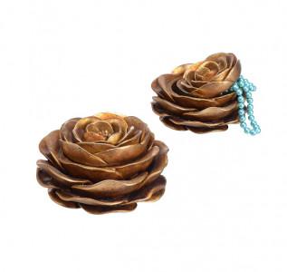 Шкатулка-роза винтажная
