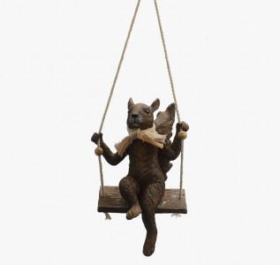 Статуэтка Белочка на подвесных качелях