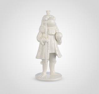 Статуэтка Белый лягушонок принц
