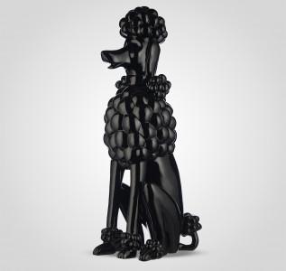 Статуэтка Черная фигура пуделя 60 см