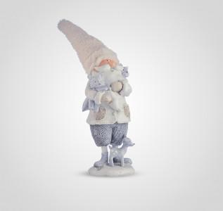 Статуэтка Дедушка в теплой шапке с друзьями