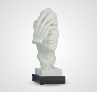 Статуэтка Декоративный белый бюст Не вижу