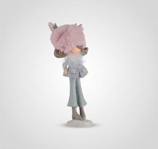 Статуэтка Девочка-милашка в теплой розовой шапочке