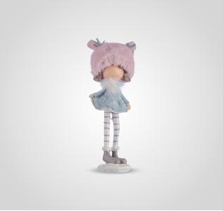 Статуэтка Девочка в теплой розовой шапочке