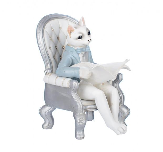 Статуэтка Ученый котенок в кресле