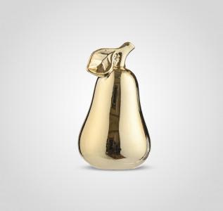 Статуэтка Груша керамическая золотистая 15 см