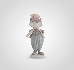 Статуэтка Хитрый котик в шапочке