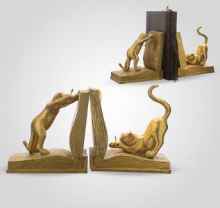 Статуэтка Книгодержатель Золотистые котята-хулиганы