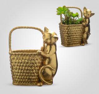 Статуэтка Кошка с корзиной Дары жизни