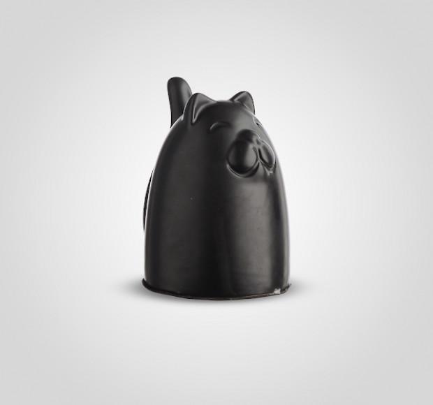 Статуэтка Кот-декор керамический черный средний
