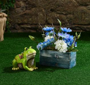 Статуэтка Лягушка-улыбашка для сада