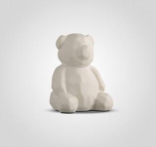 Статуэтка Мишка белый керамический в стиле Арт-Деко большой