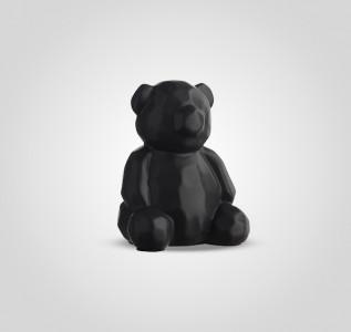 Статуэтка Мишка черный керамический в стиле Арт-Деко большой