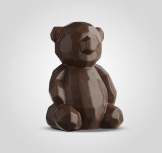 Статуэтка Мишка коричневый керамический в стиле Арт-Деко большой