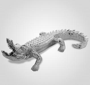 Статуэтка Серебристая фигура крокодила