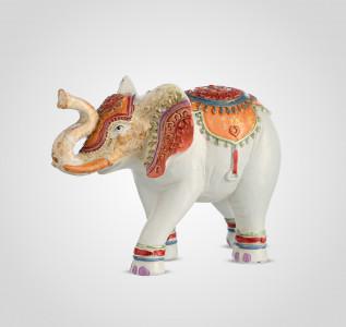 Статуэтка Слон-декор белый с индийским орнаментом