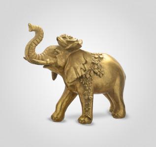 Статуэтка Слон-декор индийский царь с розочкой большой