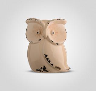 Статуэтка Сова керамическая декоративная малая
