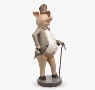 Статуэтка Свинка во фраке Мистер Хрюн