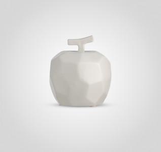 Статуэтка Яблоко керамическое белое в стиле Арт-Деко