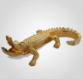 Статуэтка Золотистая фигура крокодила