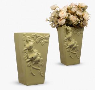 Ваза керамическая Кофе с молоком Printemps