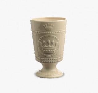 Ваза керамическая кремовая Корона малая